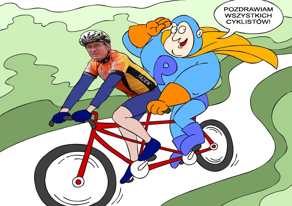 Kapitan Poznań na wycieczce rowerowej